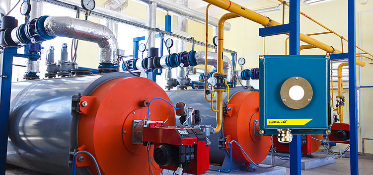 Gas monitoring in heating plants